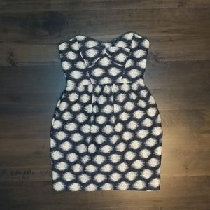 Shoshanna Anthropologie Strapless Dress Size 4